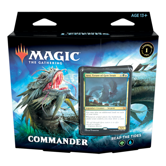 Magic: The Gathering Commander Legends Commander Deck - Reap the Tides