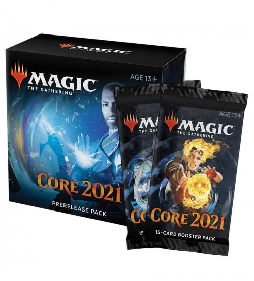Magic: The Gathering 2021 Core Set Prerelease Pack + 2 Additional Prize Support Boosters!