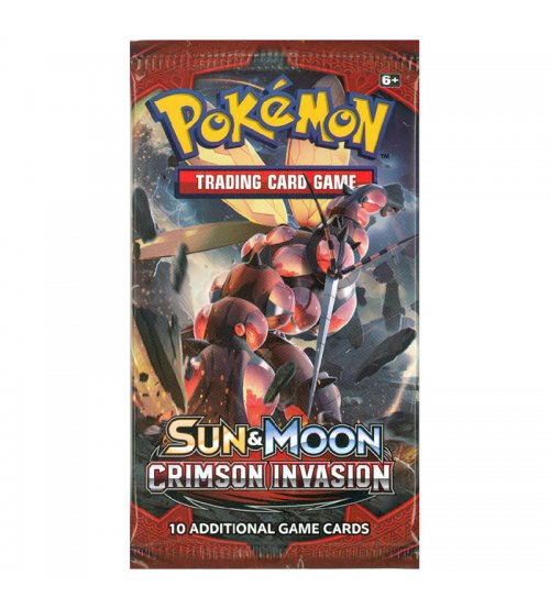 Pokemon Sun & Moon Crimson Invasion 10-Card Booster Pack
