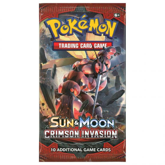 Pokemon Sun & Moon Crimson Invasion 10-Card Booster Pack