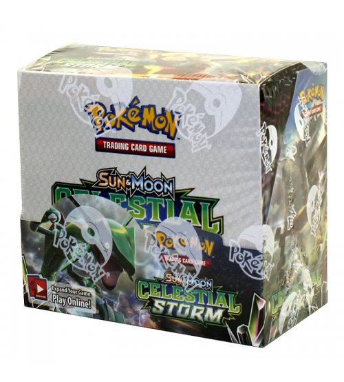 Pokemon Sun & Moon Celestial Storm Booster Box, 36/Pack