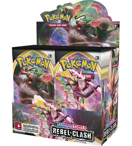 Pokemon Sword & Shield Rebel Clash Booster Box, 36/Pack
