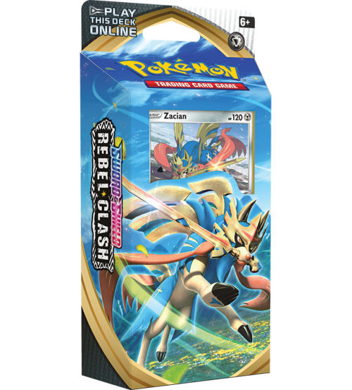 Pokemon Sword & Shield Rebel Clash Zacian Theme Deck