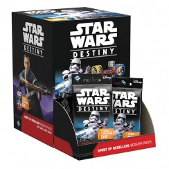 Star Wars: Destiny Dice & Card Game - Spirit of Rebellion - Booster Display Box, 36/Pack
