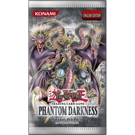 Yu-Gi-Oh GX Phantom Darkness 1st Edition 9-Card Booster Pack