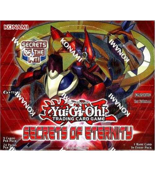 Yu-Gi-Oh Secrets of Eternity 1st Edition Booster Box, 24/Pack