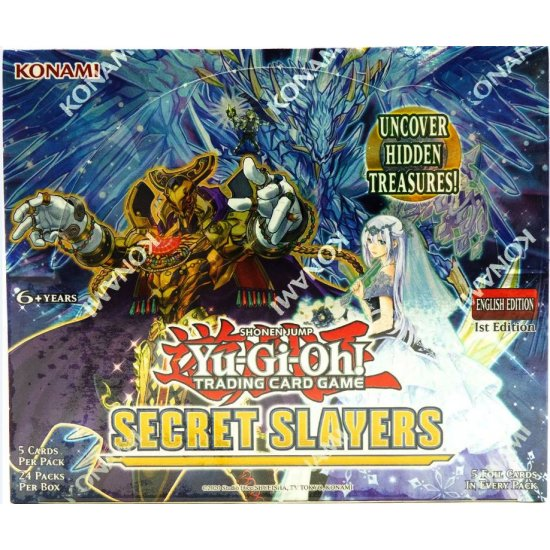 Yu-Gi-Oh Secret Slayers Booster Box, 24/Pack