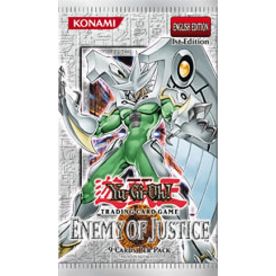 YuGiOh Enemy of Justice EOJ 1st Edition 9-Card Booster Pack