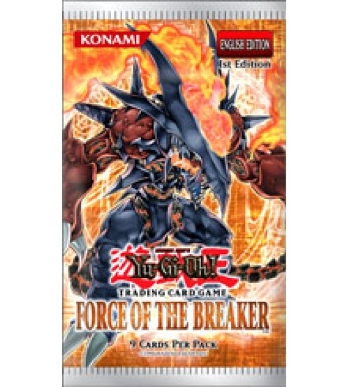 YuGiOh Force of the Breaker FOTB 1st Edition 9-Card Booster Pack