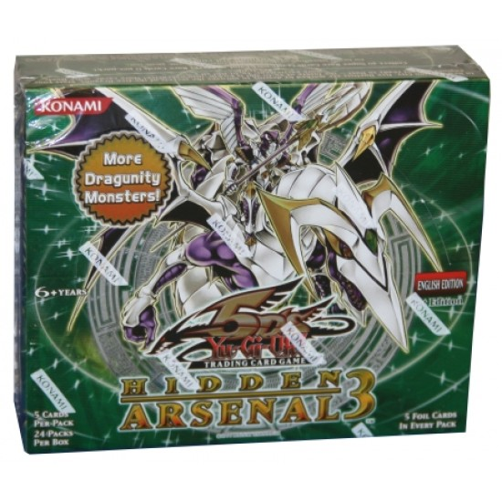 YuGiOh 5Ds Hidden Arsenal 3 HA03 1st Edition Booster Box, 24/Pack