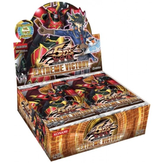 YuGiOh 5Ds Extreme Victory EXVC 1st Edition Booster Box, 24/Pack