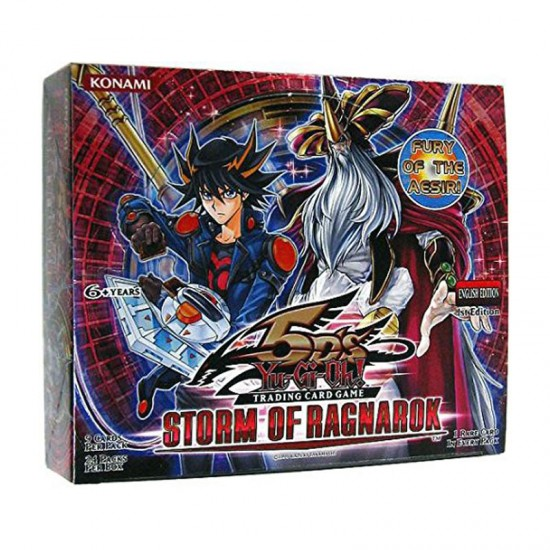 YuGiOh 5Ds Storm of Ragnarok STOR 1st Edition Booster Box, 24/Pack