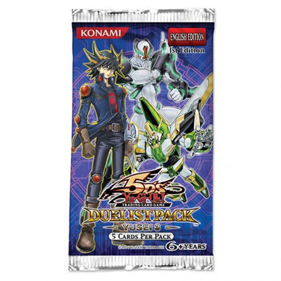 YuGiOh 5Ds Duelist Pack Yusei 3 DP10 1st Edition 5-Card Booster Pack