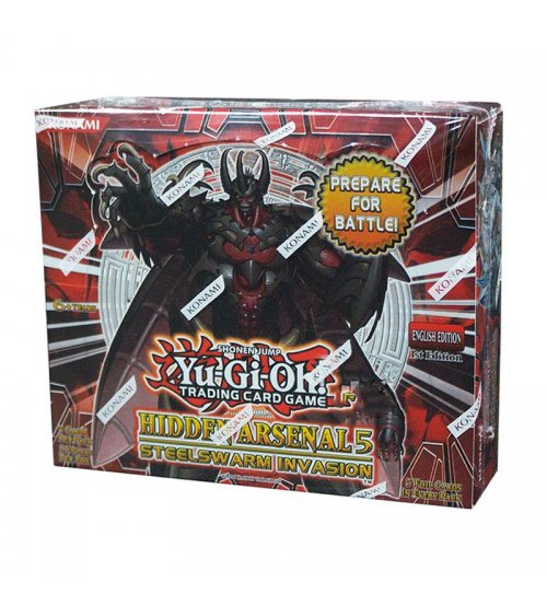 Yu-Gi-Oh Hidden Arsenal 5: Steelswarm Invasion 1st Edition Booster Box, 24/Pack