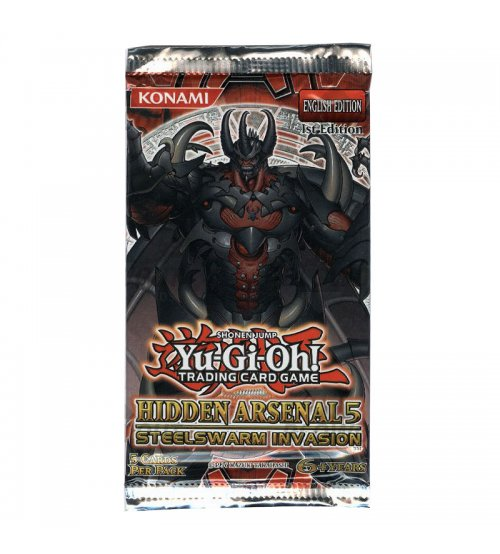 Yu-Gi-Oh Hidden Arsenal 5: Steelswarm Invasion 1st Edition 5-Card Booster Pack