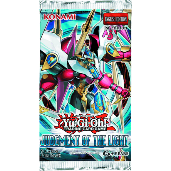 YuGiOh Judgment of the Light JOTL 1st Edition 9-Card Booster Pack