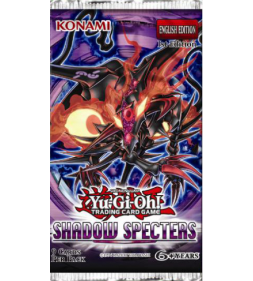 YuGiOh Shadow Specters SHSP 1st Edition 9-Card Booster Pack