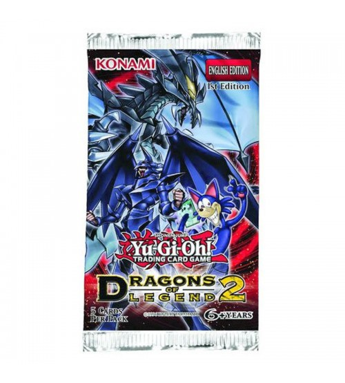YuGiOh Dragons of Legend 2 DRL2 1st Edition 5-Card Booster Pack