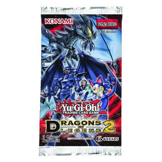 Yu-Gi-Oh Dragons of Legend 2 1st Edition 5-Card Booster Pack