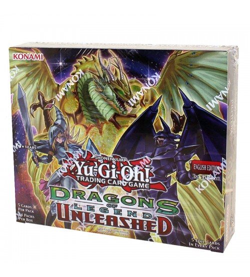 Yu-Gi-Oh Dragons of Legend Unleashed 1st Edition Booster Box, 24/Pack