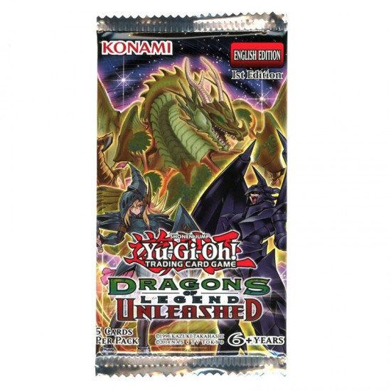 YuGiOh Dragons of Legend Unleashed DRL3 1st Edition 5-Card Booster Pack