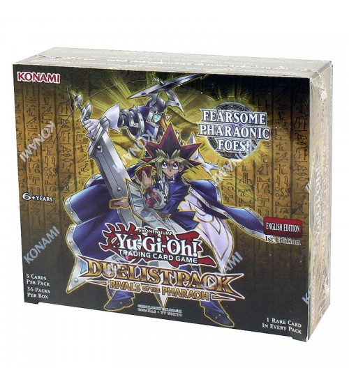 YuGiOh Duelist Pack Rivals of the Pharaoh DPRP 1st Edition Booster Box, 36/Pack