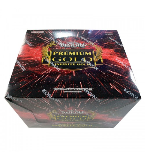 YuGiOh Premium Gold Infinite Gold PGL3 1st Edition Booster Display Box, 5/Pack