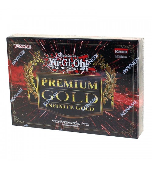 YuGiOh Premium Gold Infinite Gold PGL3 1st Edition Mini Box (3 Booster Packs)