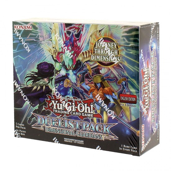 YuGiOh Duelist Pack Dimensional Guardians DPDG 1st Edition Booster Box, 36/Pack