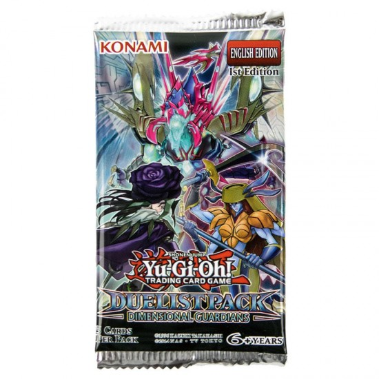 YuGiOh Duelist Pack Dimensional Guardians DPDG 1st Edition 5-Card Booster Pack