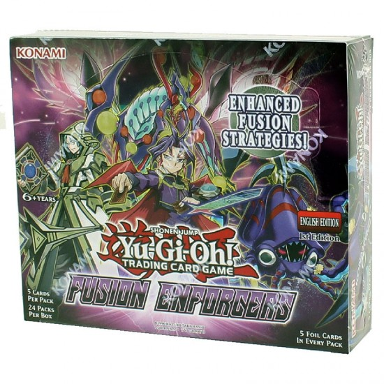 YuGiOh Fusion Enforcers FUEN 1st Edition Booster Box, 24/Pack