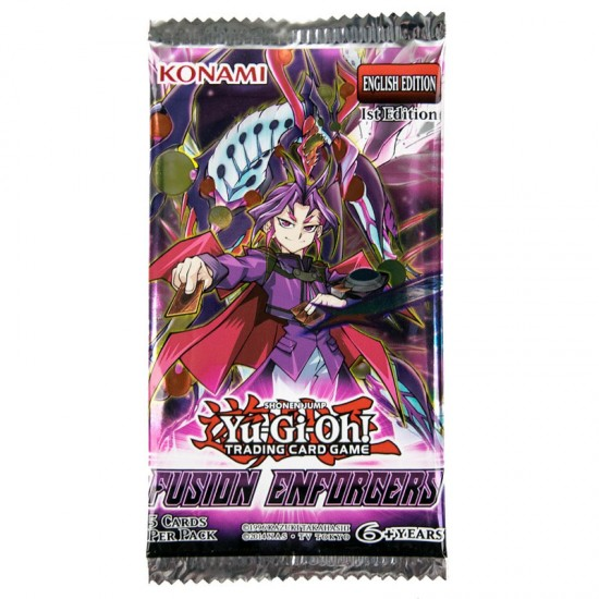 YuGiOh Fusion Enforcers FUEN 1st Edition 9-Card Booster Pack