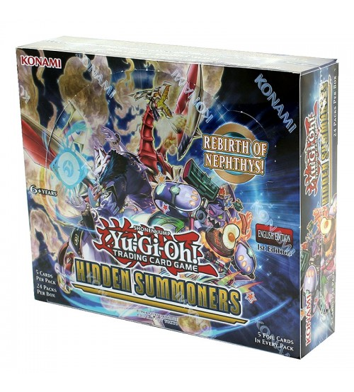 YuGiOh Hidden Summoners HISU 1st Edition Booster Box, 24/Pack