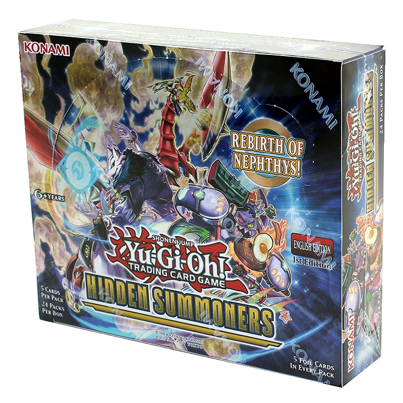 YuGiOh Hidden Summoners HISU 1st Edition Booster Box, 24/Pack