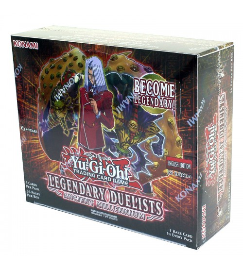 YuGiOh Legendary Duelists Ancient Millennium LED2 1st Edition Booster Box, 36/Pack