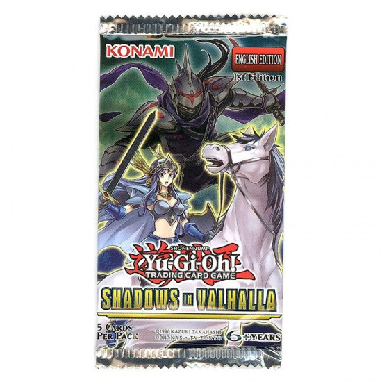 YuGiOh Shadows In Valhalla SHVA 1st Edition 9-Card Booster Pack