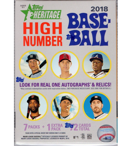2018 Topps Heritage High Number Baseball Blaster Box