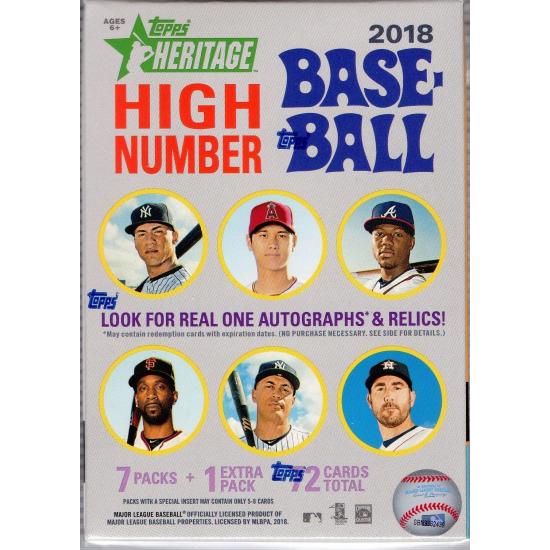 2018 Topps Heritage High Number Baseball Blaster Box