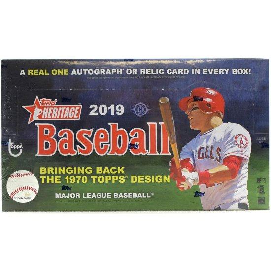 2019 Topps Heritage Baseball Hobby Box