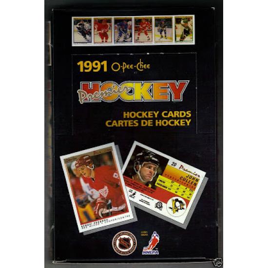1990-91 O-Pee-Chee Premier Hockey Hobby Box