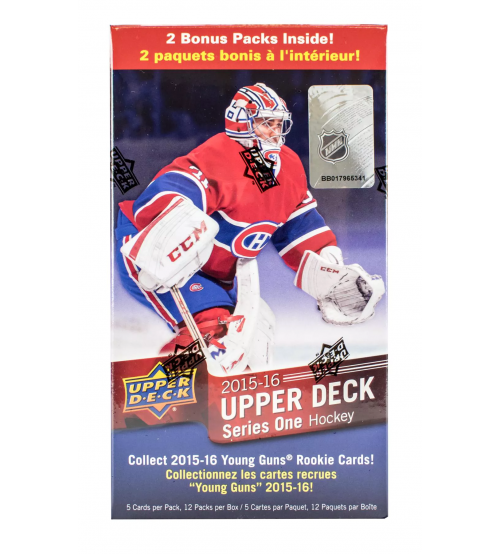 2015-16 Upper Deck Series 1 Hockey Retail Blaster Box