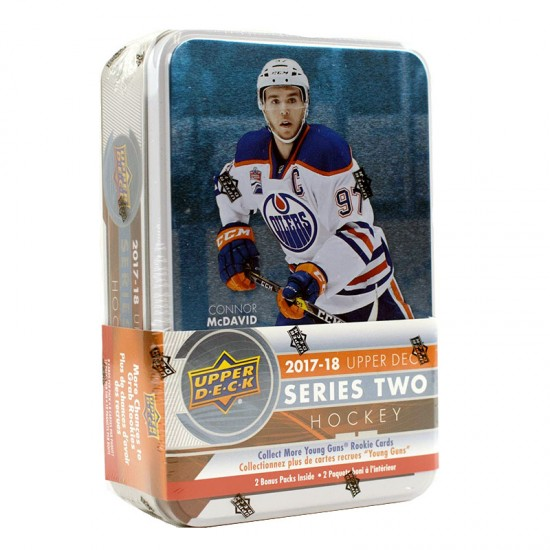 2017-18 Upper Deck Series 2 Hockey Retail Tin
