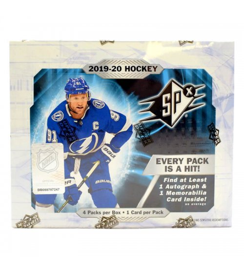 2019-20 Upper Deck SPx Hockey Hobby Box