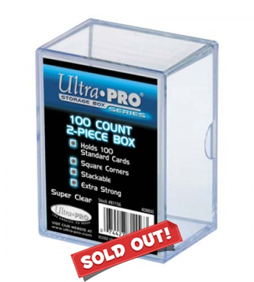 Ultra PRO Heavy Duty 2-Piece 100-Count Clear Card Storage Box